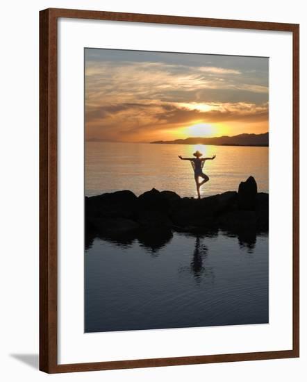 Yoga-Charles Bowman-Framed Photographic Print