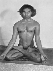 Yogi Vithaldas in the Padma-Asan (Lotus Pose) One of the Meditative Postures