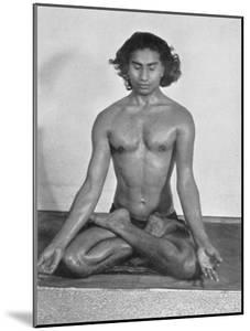 Yogi Vithaldas in the Padma-Asan (Lotus Pose) One of the Meditative Postures