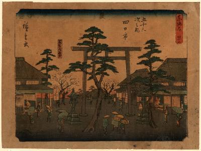 Yokkaichi-Utagawa Hiroshige-Giclee Print