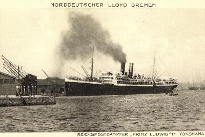 Yokohama Japan, Lloyd Bremen, Dampfer Prinz Ludwig--Giclee Print