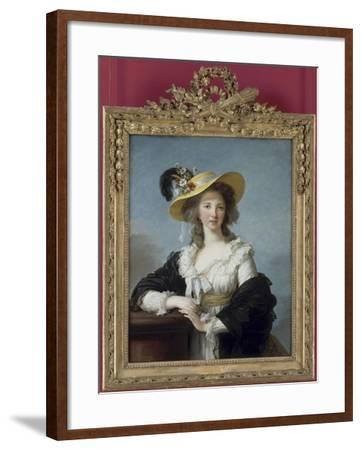 Yolande-Gabrielle-Martine de Polastron, duchesse de Polignac (1749-1793)-Elisabeth Louise Vigée-LeBrun-Framed Giclee Print