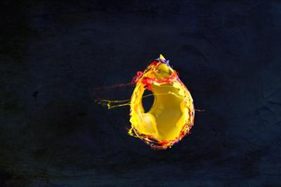 High Speed Flash Capturing Bursting Balloon and Visible Sound Wave Distortions