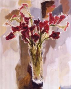 Red Calla Lilies by Yona