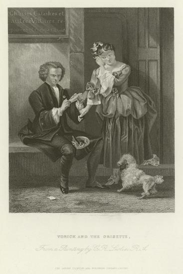 Yorick and the Grisette-Charles Robert Leslie-Giclee Print