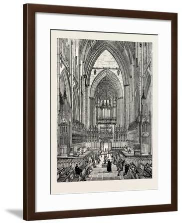 York Cathedral: the Choir--Framed Giclee Print