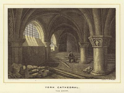 York Cathedral, the Crypt--Giclee Print