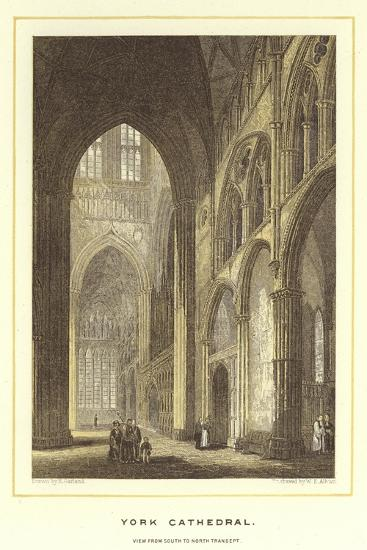 York Cathedral, View from South to North Transept--Giclee Print