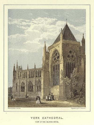 York Cathedral, View of the Chapter House-Hablot Knight Browne-Giclee Print