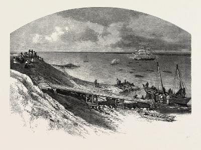 York Factory Arrival of Hudson's Bay Company's Ship, Canada, Nineteenth Century--Giclee Print