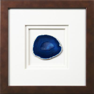 York Framed Agate - Blue