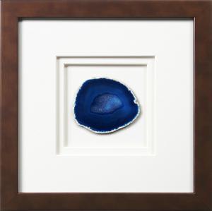 York Framed Agate - Blue