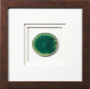 York Framed Agate - Green