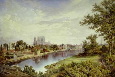 York from Scarborough Railway Bridge-John Bell-Giclee Print