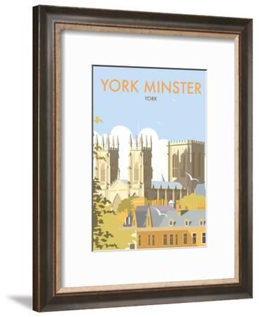 York Minster - Dave Thompson Contemporary Travel Print-Dave Thompson-Framed Art Print