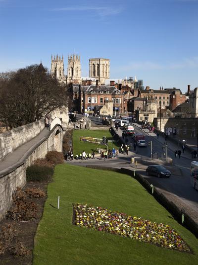 York Minster from the City Walls, York, Yorkshire, England-Mark Sunderland-Photographic Print