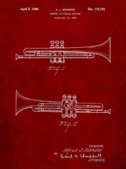 York Trumpet 1939 Patent-Cole Borders-Art Print