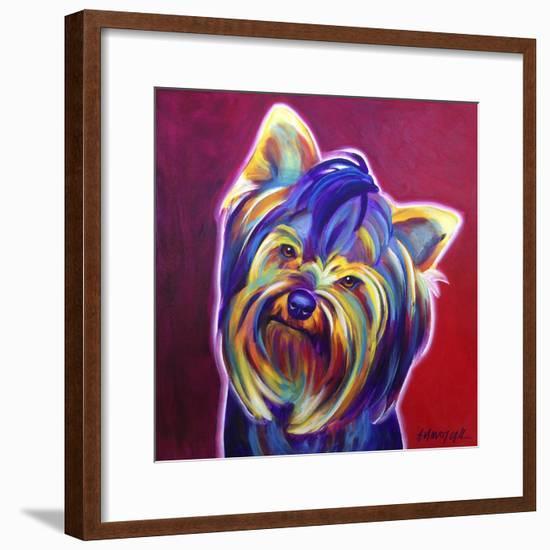 Yorkie - Furbie Face-Dawgart-Framed Giclee Print