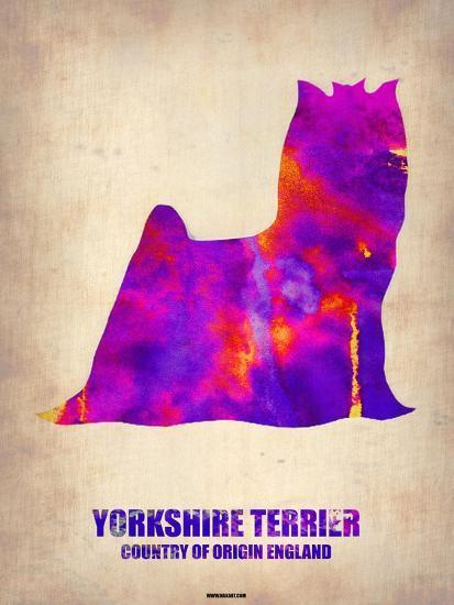 Yorkshire Terrier Poster-NaxArt-Art Print