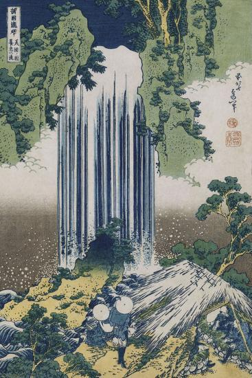 Yoro Waterfall, Mino Province', from the Series 'A Journey to the Waterfalls of All the Provinces'-Katsushika Hokusai-Giclee Print