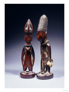 Yoruba Female and Male Ibeji Figures