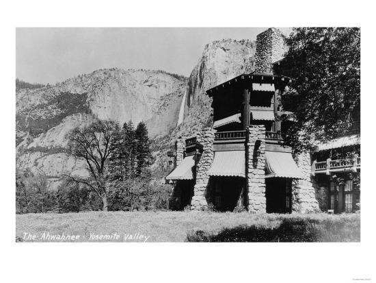 Yosemite, CA - The Ahwahnee Lodge and Valley Photo-Lantern Press-Art Print