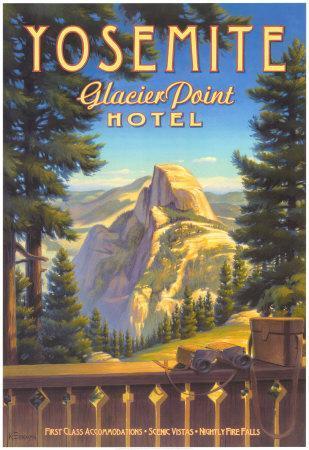 Yosemite, Glacier Point Hotel-Kerne Erickson-Art Print