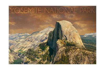 Yosemite National Park, California - Half Dome from Glacier Point-Lantern Press-Art Print