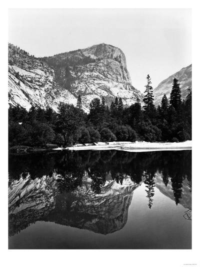 Yosemite National Park, Mirror Lake Photograph - Yosemite, CA-Lantern Press-Art Print