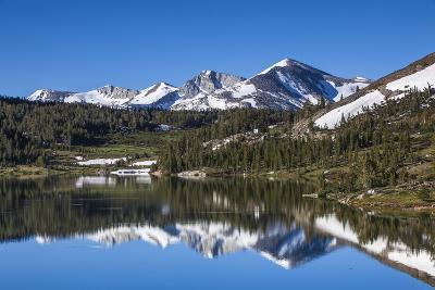 Yosemite National Park. the Kuna Crest and Mammoth Reflections in Tioga Lake-Michael Qualls-Photographic Print