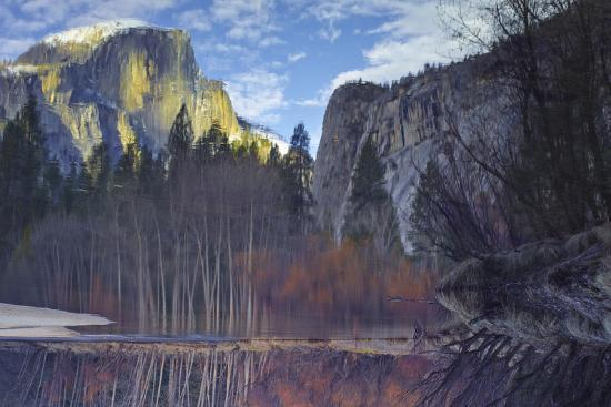Yosemite Reflection 2 Color-Moises Levy-Photographic Print