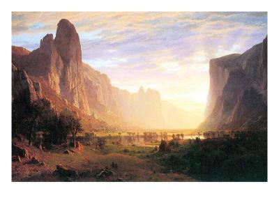 Yosemite Valley 3-Albert Bierstadt-Art Print