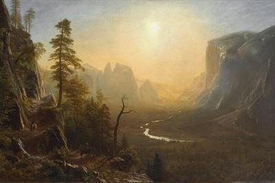 Yosemite Valley, Glacier Point Trail, c.1873-Albert Bierstadt-Giclee Print