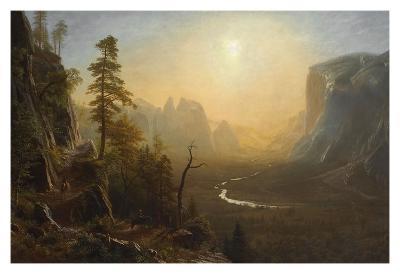 Yosemite Valley, Glacier Point Trail, ca. 1873-Albert Bierstadt-Art Print