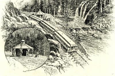 Yosemite Valley Mossbrae 1891, USA--Giclee Print
