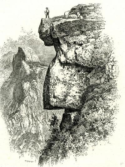 Yosemite Valley Upon Glacier Point USA 1891--Giclee Print