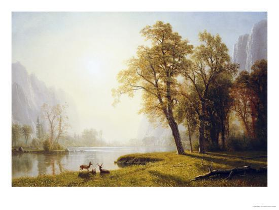 Yosemite Valley-Albert Bierstadt-Giclee Print