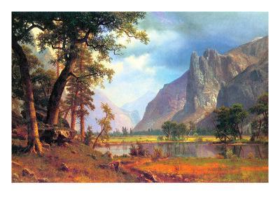 Yosemite Valley-Albert Bierstadt-Art Print