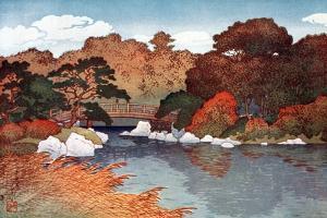 Autumn in Hundred Flower Garden at Muko-Jima, C1900-1950 by Yoshida Hiroshi