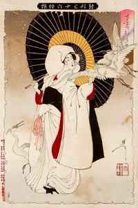 An Egret Girl, Thirty-Six Transformations by Yoshitoshi Tsukioka