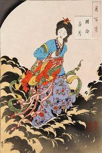 Chang E Flees to the Moon, One Hundred Aspects of the Moon by Yoshitoshi Tsukioka