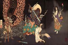 Lady Chiyo, One Hundred Aspects of the Moon-Yoshitoshi Tsukioka-Framed Giclee Print