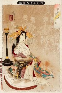 Jigoku Dayu - Courtesan from Hell, Thirty-Six Transformations by Yoshitoshi Tsukioka