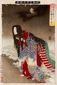 Kiyohime Change into River Snake, Thirty-Six Transformations by Yoshitoshi Tsukioka