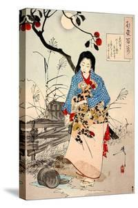 Lady Chiyo, One Hundred Aspects of the Moon by Yoshitoshi Tsukioka