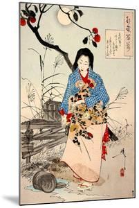 Lady Chiyo, One Hundred Aspects of the Moon by Yoshitoshi Tsukioka