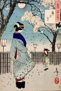 Moon of the Pleasure Quarters, One Hundred Aspects of the Moon by Yoshitoshi Tsukioka