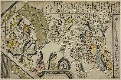 Yoshitsune's Encounter with Princess Joruri, C.1684-1704-Sigimura Jihei-Giclee Print