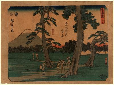 Yoshiwara-Utagawa Hiroshige-Giclee Print