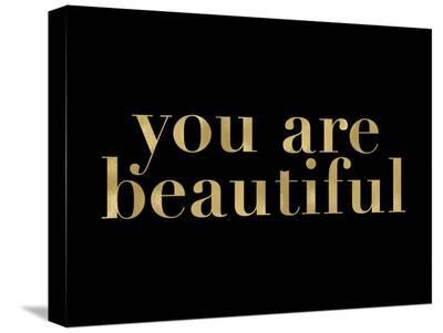 You Are Beautiful Golden Black-Amy Brinkman-Stretched Canvas Print